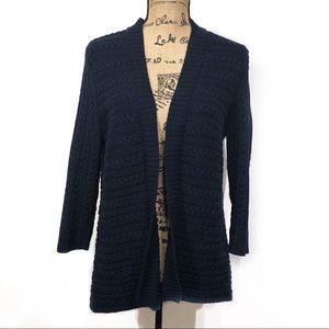 Talbots Petite Dark Blue Long Sleeve Cardigan